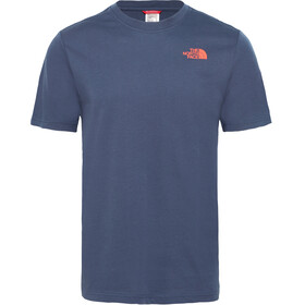 The North Face Redbox S/S Tee Men urban navy/fiery red